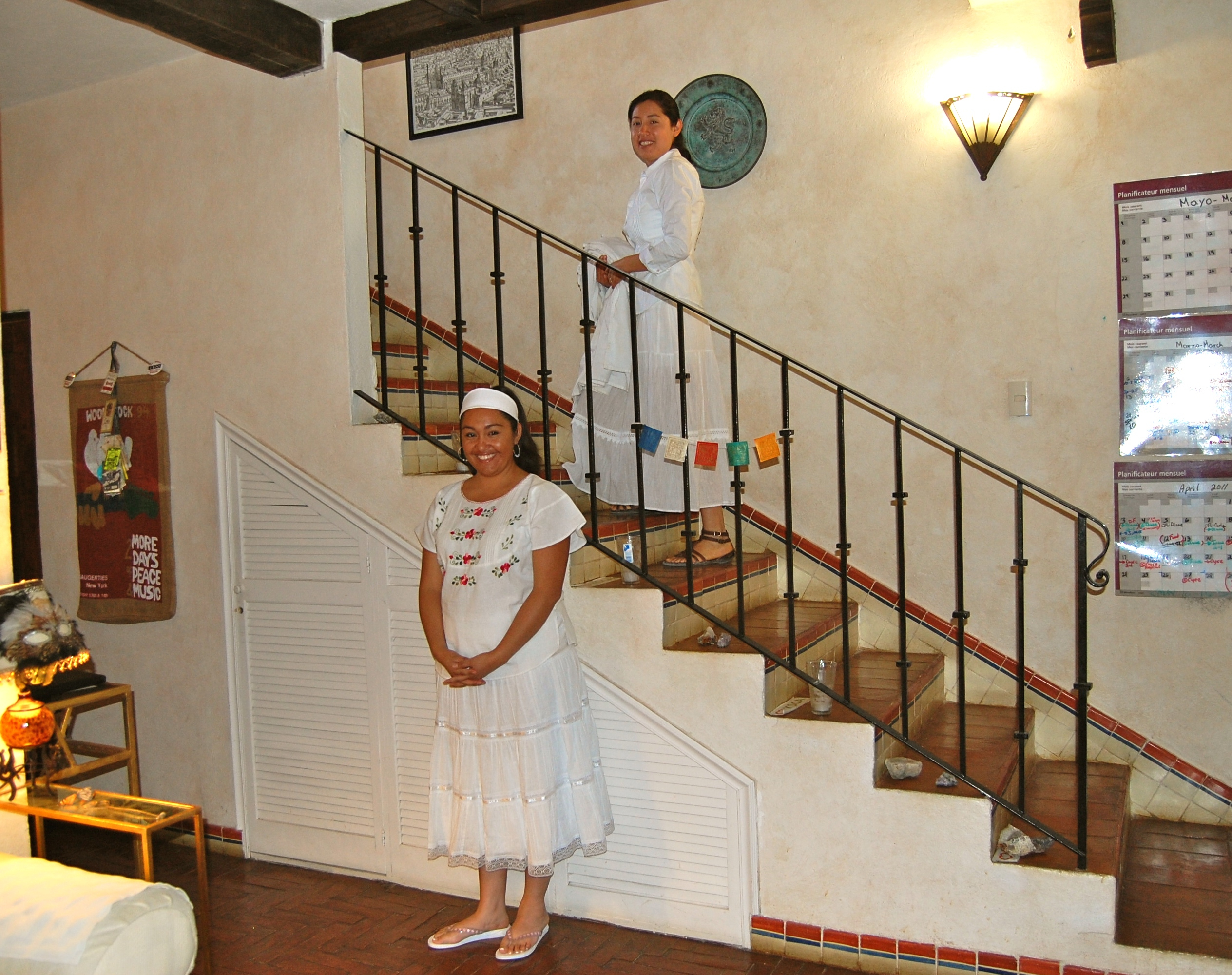 Our Staff waiting to pamper you